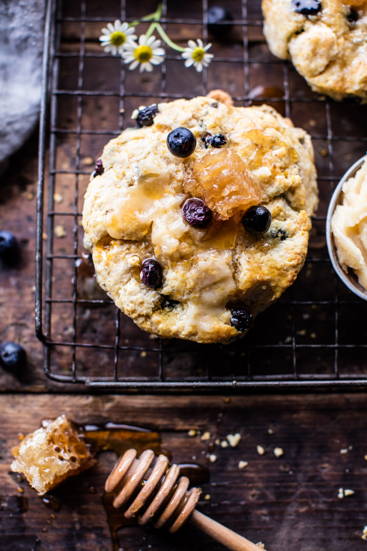 Blueberry-Brie-Cornbread-Biscuits-with-Honey-Butter-1-1