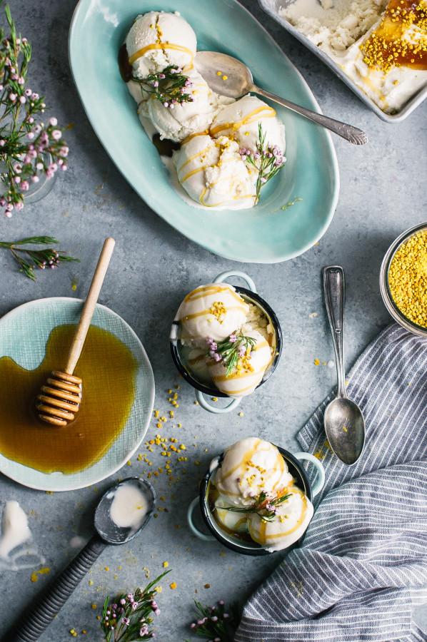 Salted-Honey-Chamomile-Frozen-Yogurt-with-Bee-Pollen-18-598x900