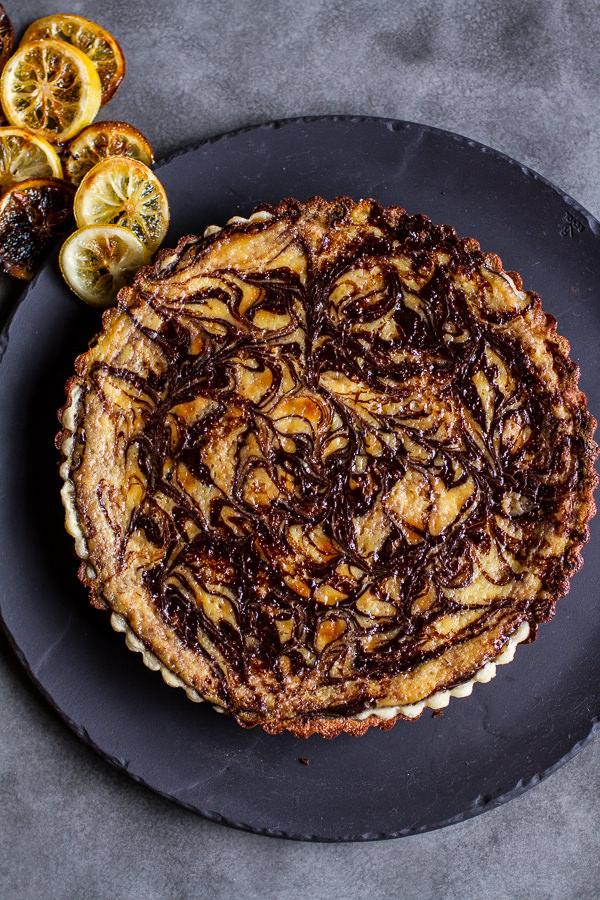 chocolate-fudge-swirled-lemon-ricotta-tart-2