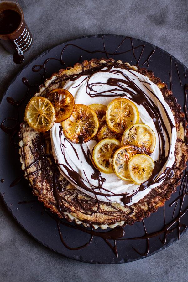 chocolate-fudge-swirled-lemon-ricotta-tart-3