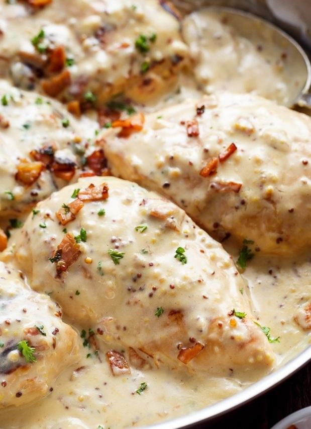 Creamy-Honey-Mustard-Chicken-With-Bacon-250
