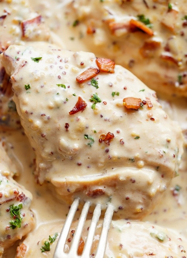 Creamy-Honey-Mustard-Chicken-With-Bacon-42