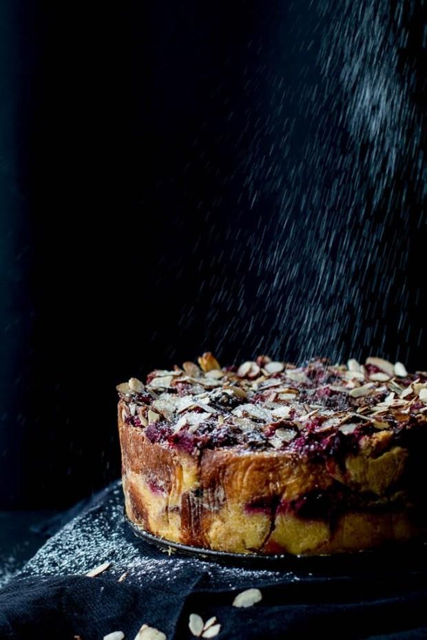 raspberry-rhubarb-dark-chocolate-bread-butter-pudding-cake-2