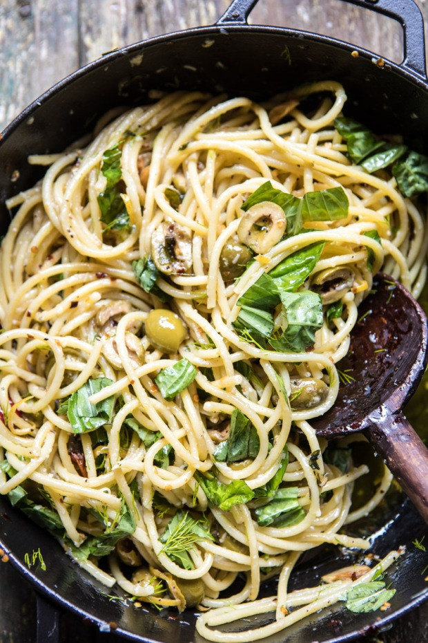 Garden-Fresh-Herb-Olive-and-Parmesan-Pasta-with-Pistachio-Breadcrumbs-4