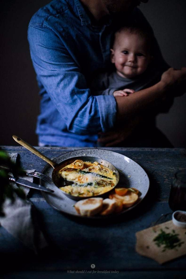 breakfast omelette with squash blossom 8